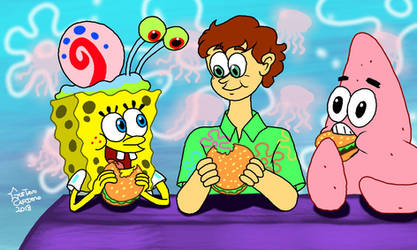 Stephen Hillenburg and his friends by GustavoCardozo97