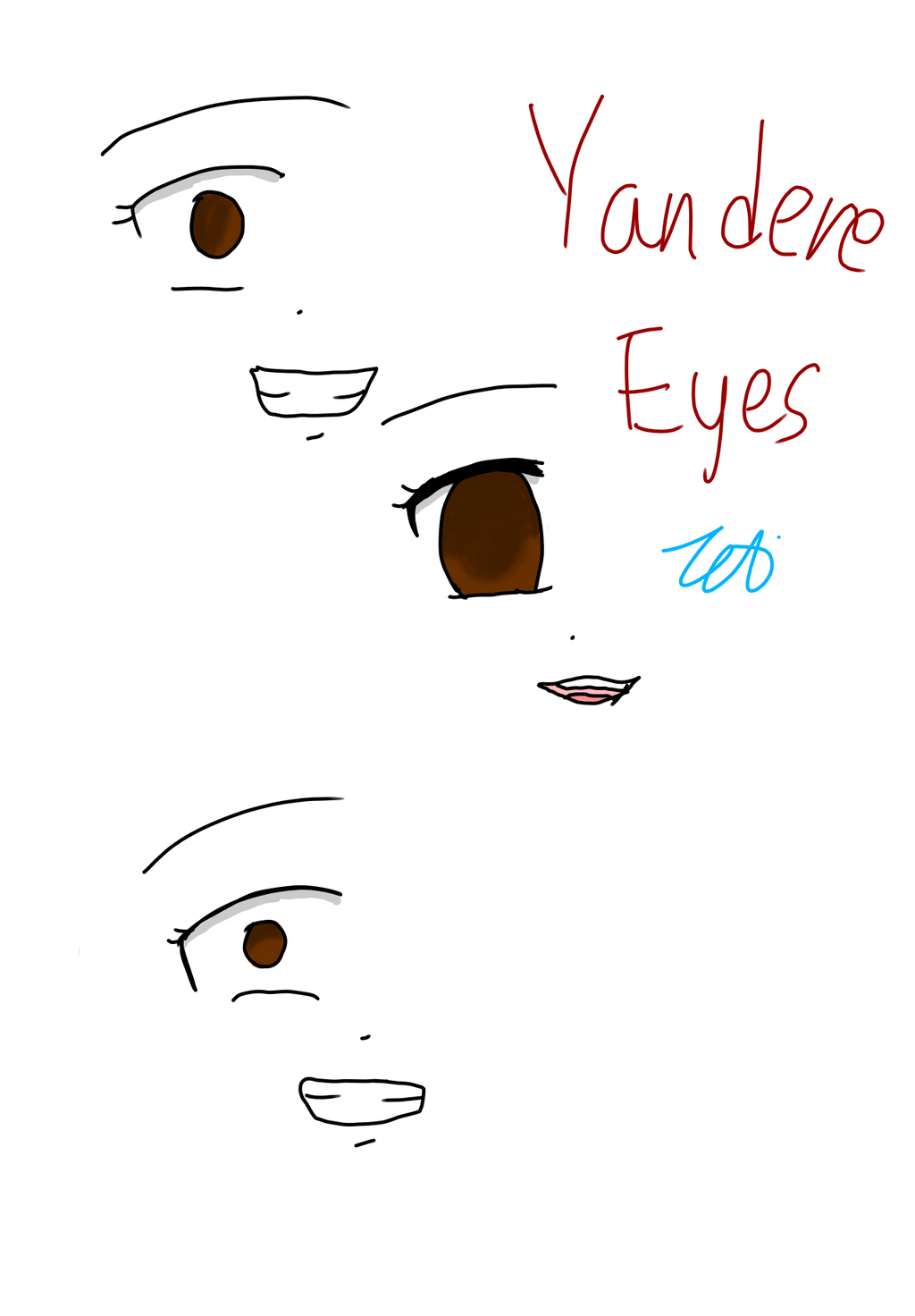 How to draw yandere eyes special offers detsky nabytekfo ccuart Image collections