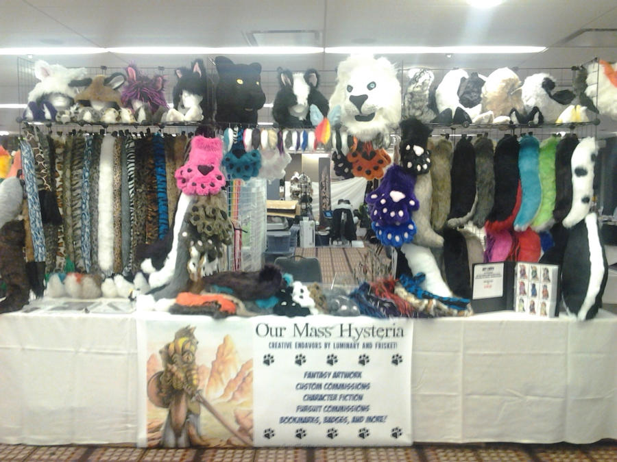 Midwest Furfest Sneak Peek - Our Booth! by OurMassHysteria