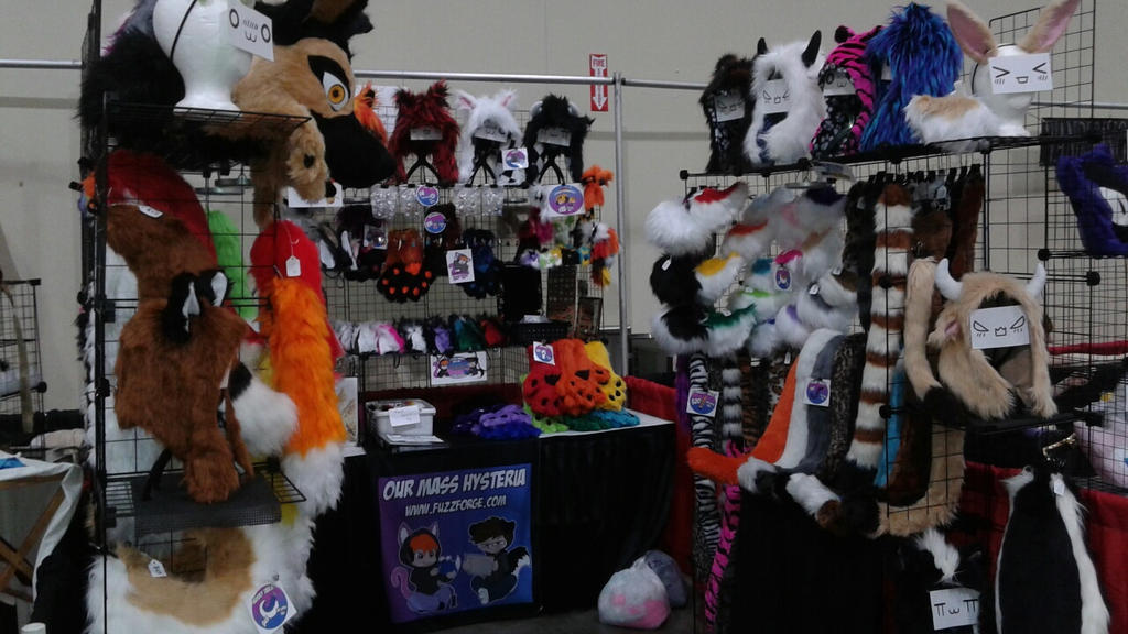 Our booth at Anime Iowa 2015! by OurMassHysteria