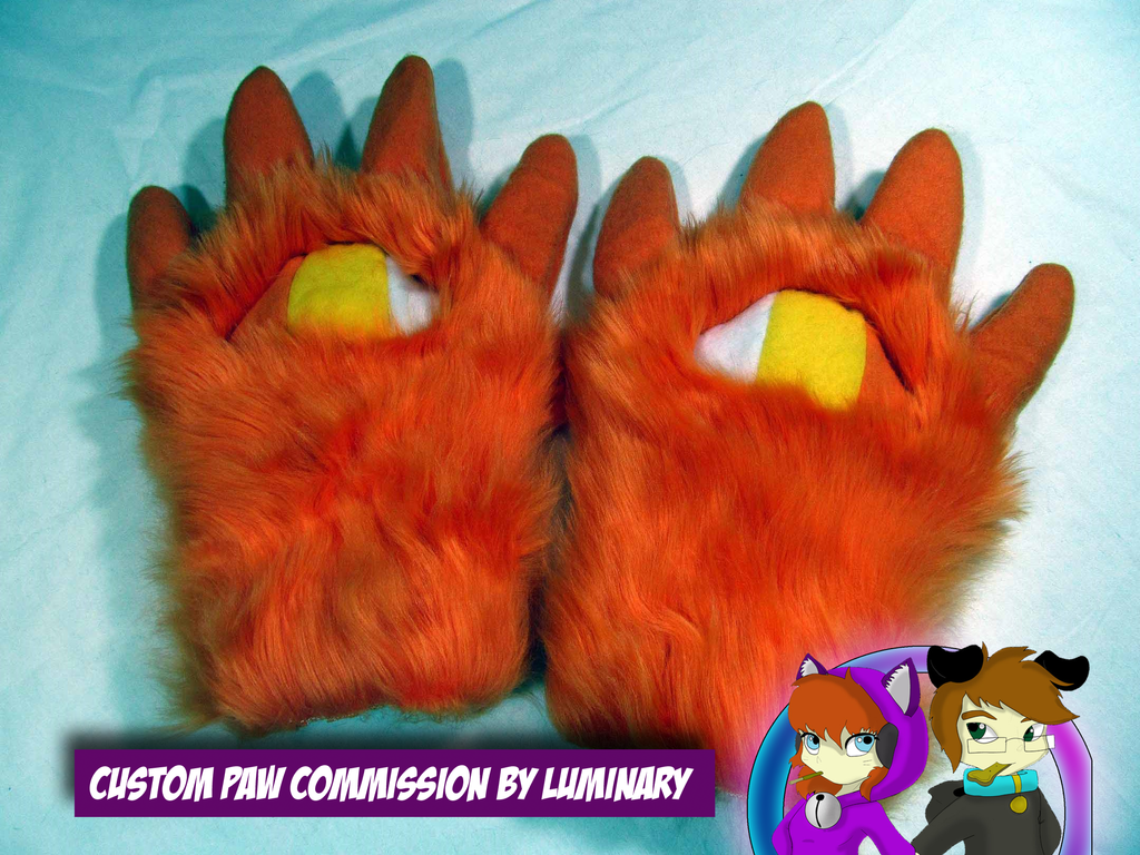 Custom Halloween Paws by Luminary by OurMassHysteria