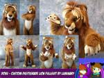 Custom digitigrade lion fullsuit for Dovu - by Lum