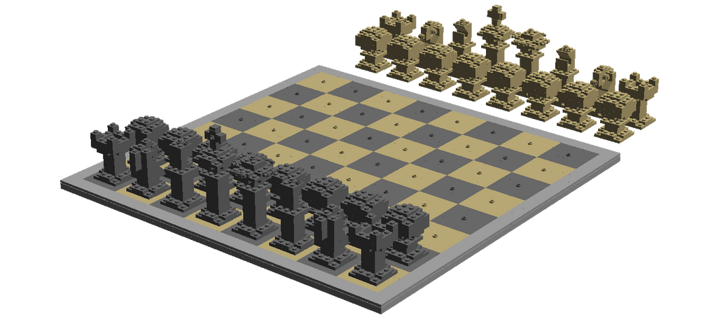 [LDD] Chess Set by bezbrick