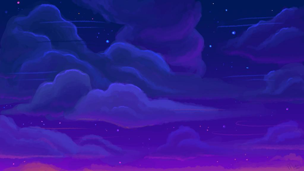 cloudy purple wallpaper - photo #25
