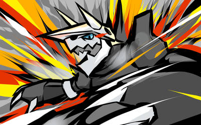 Aggron | Metal Burst by ishmam