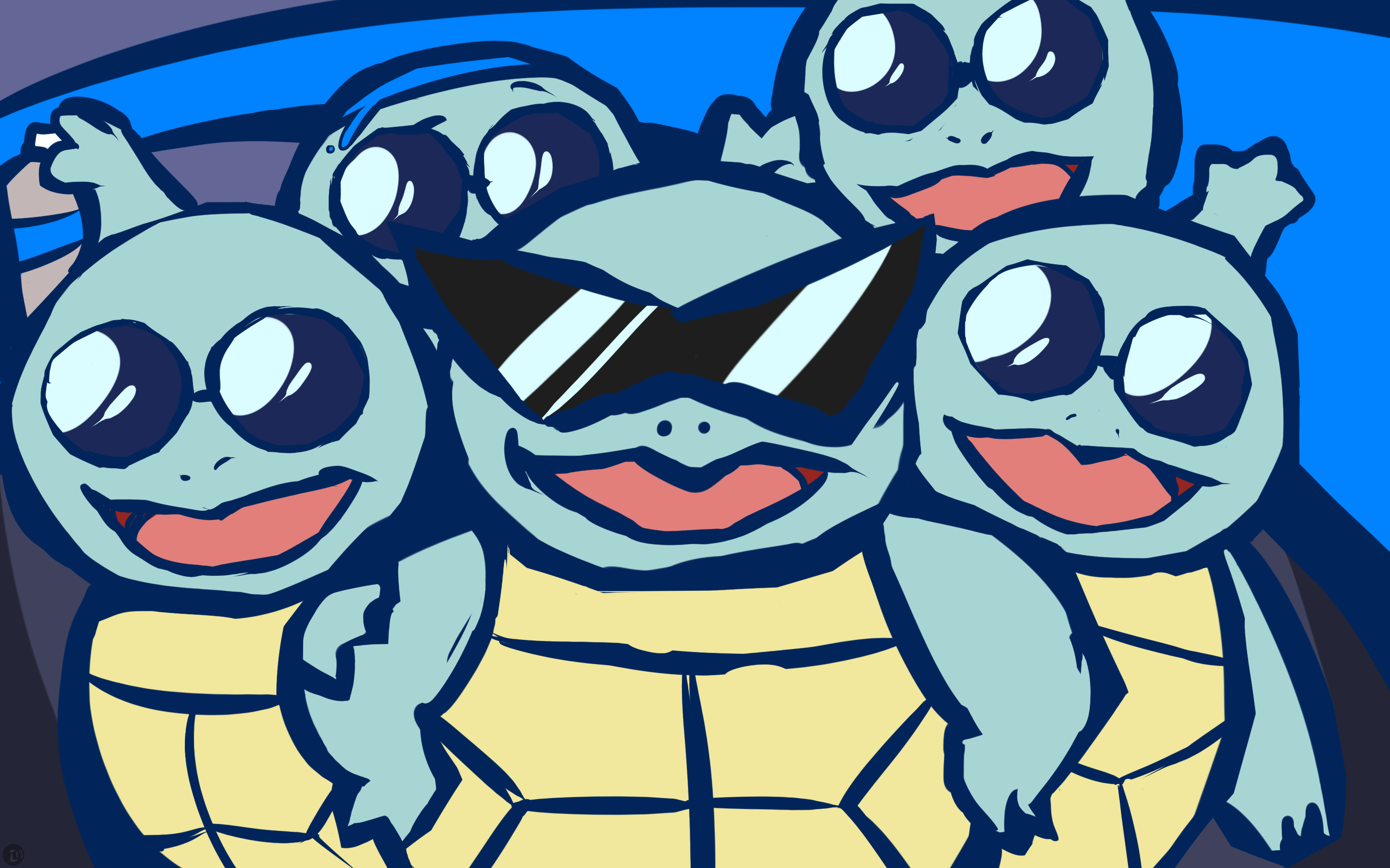 Here Comes The Squirtle Squad by ishmam