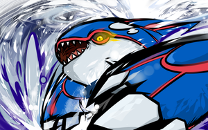 Kyogre   Water Spout by ishmam