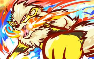 Shiny Arcanine | Fire Fang by ishmam
