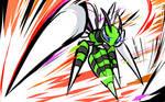 Shiny Mega Beedrill | Twineedle