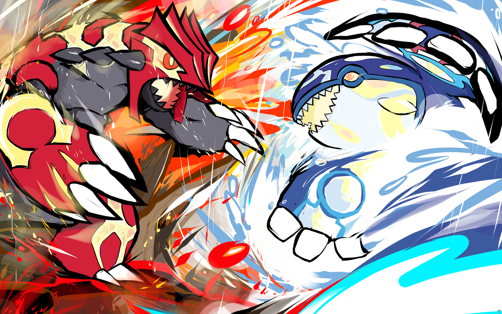 Primal groudon primal kyogre by ishmam on deviantart - Pictures of groudon and kyogre ...