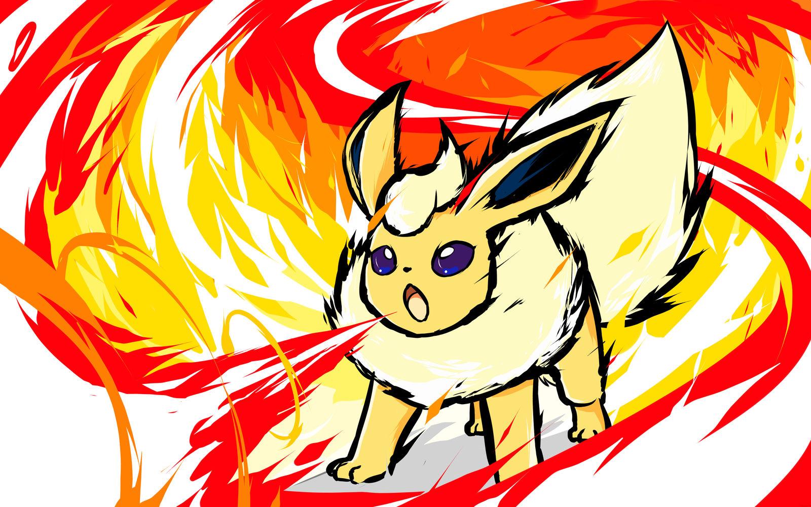 Shiny Flareon | Fire Spin