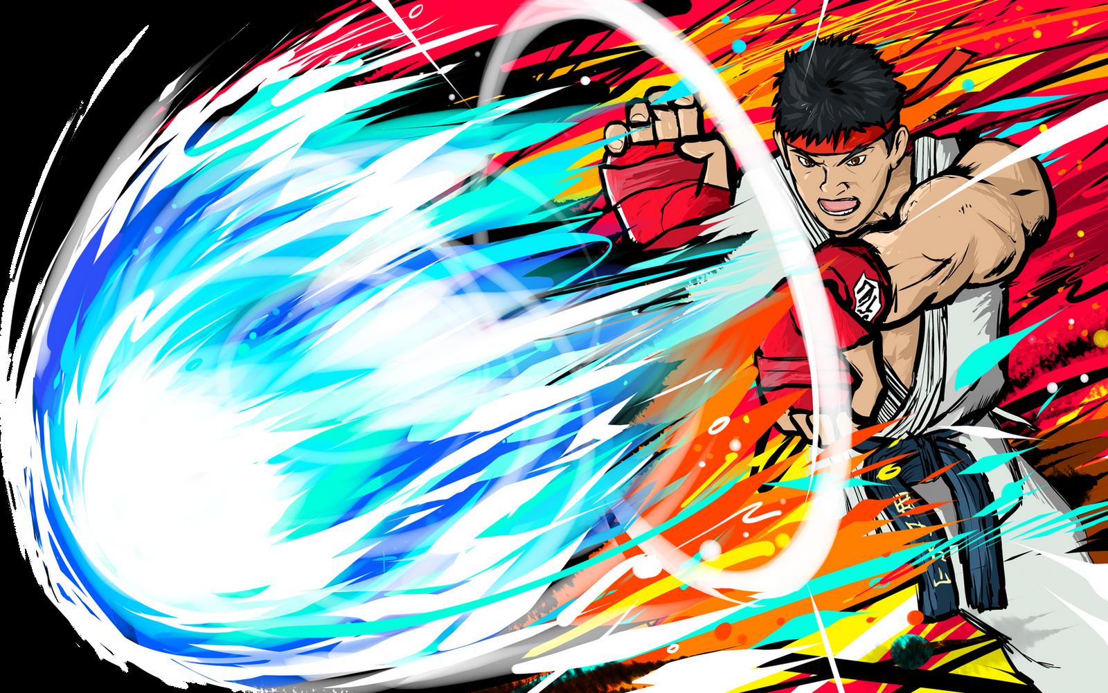 Ryu | Hadoken by ishmam on DeviantArt