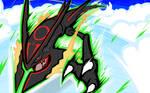 Shiny Mega Rayquaza   Dragon Ascent