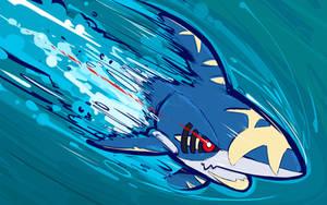 Mega Sharpedo | Aqua Jet by ishmam