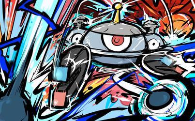Magnezone | Magnet Bomb by ishmam