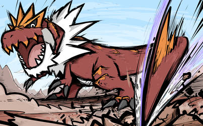 Tyrantrum | Dragon Tail by ishmam