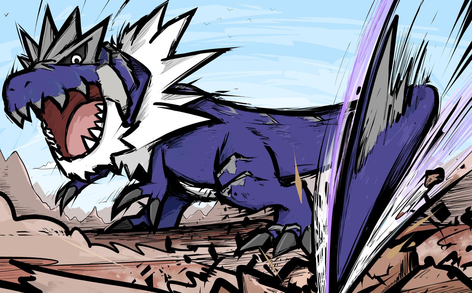 Shiny Tyrantrum Dragon Tail By Ishmam On Deviantart