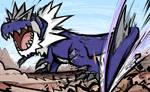 Shiny Tyrantrum | Dragon Tail by ishmam