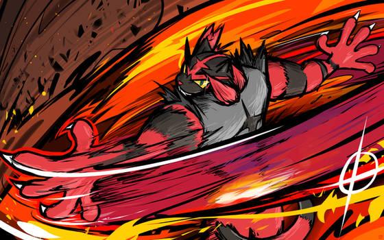 Incineroar | Darkest Lariat by ishmam