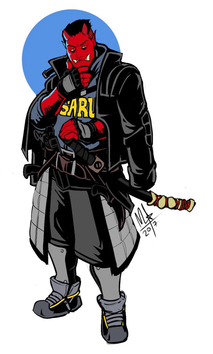 Shadowrunners Oni_street_samurai_by_lord_of_the_guns-dbb1p1c
