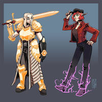 Paladin and Dodger by Lord-Of-The-Guns
