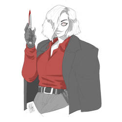 Knife Young Lady