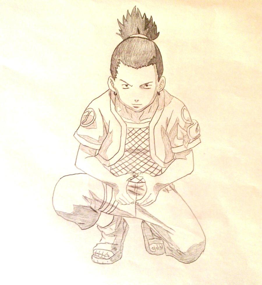 how to draw shikamaru nara