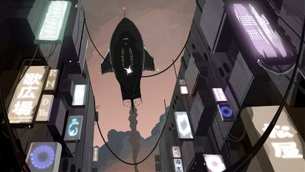 The Flight to Urbanica by O-KABA