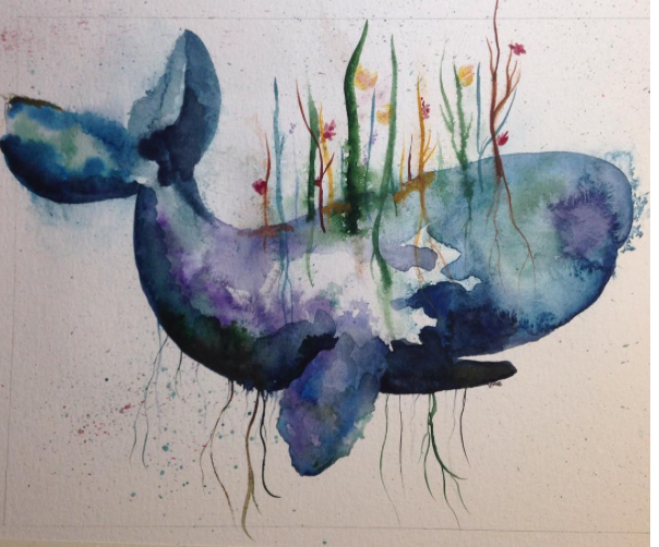Deep Root Whale by paintingmyheartred