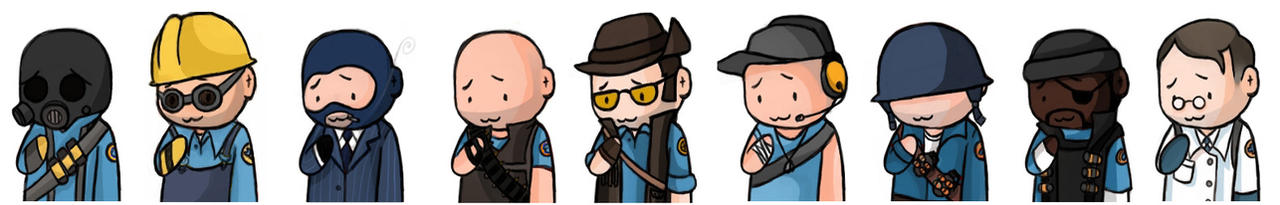Team Fortress 2 - Team BLU by doktorzara
