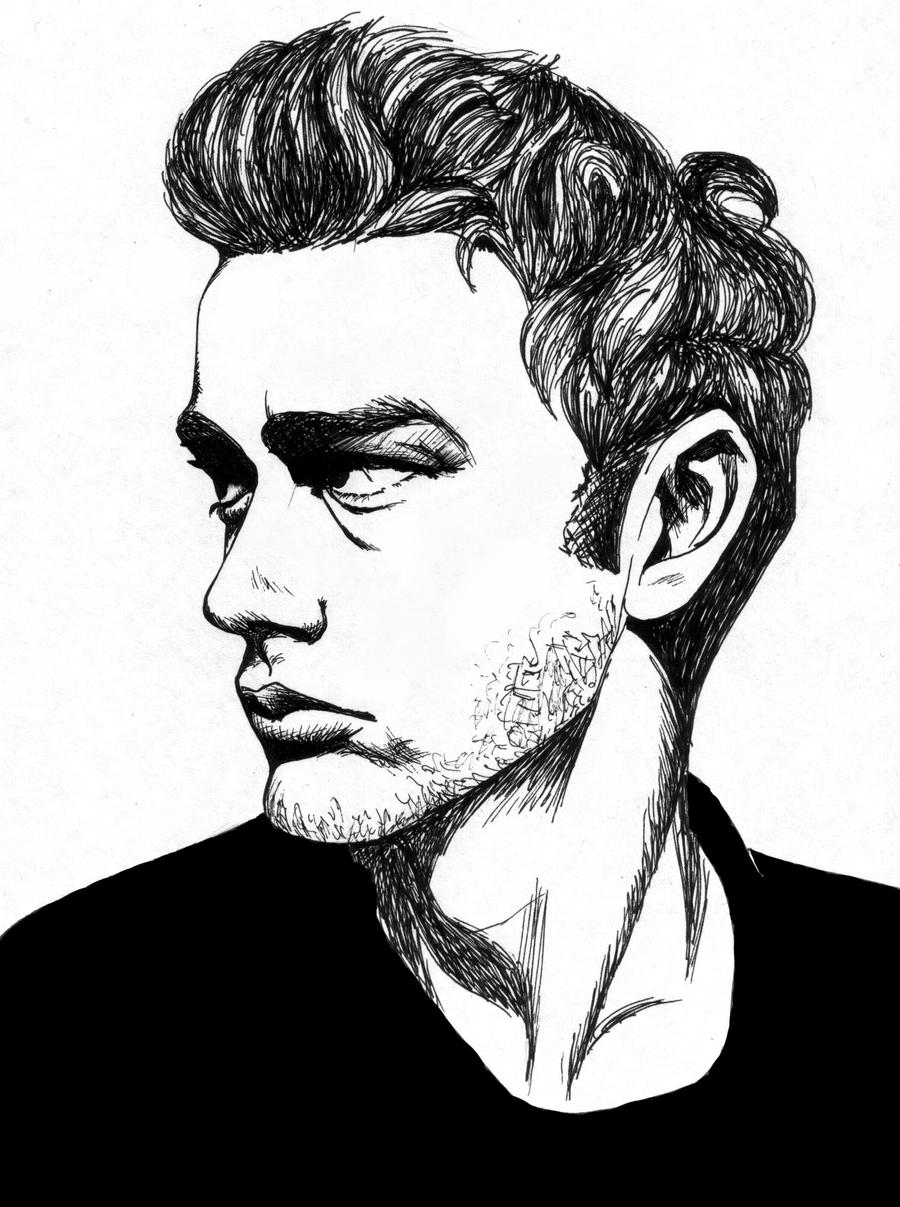 james dean black and white painting - photo #46