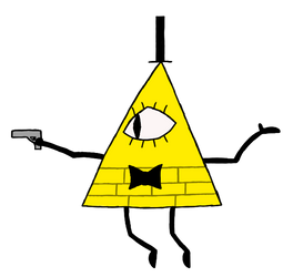 bill cipher but he has a gun