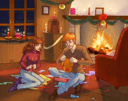 HP_Christmas Surprises by mary-dreams