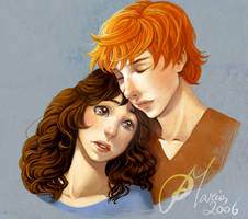 Hold me_HP HBP_ RON E Hermione by mary-dreams