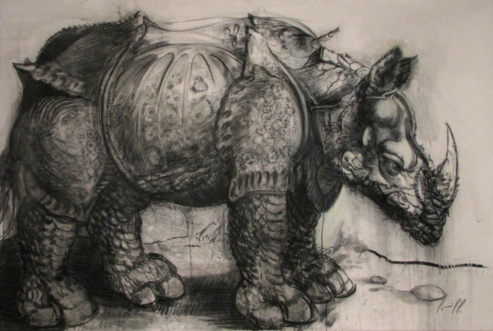 Durer rhinoceros by ramonpp