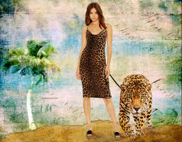 The girl and the leopard by fenida