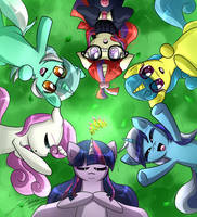 MLP-Viejas amigas/old friends by PhoenixGoldenSilver