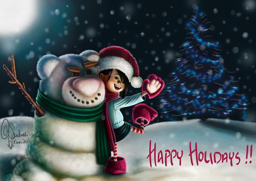 X'mas 2012 - lotso snowman =P by SandreeL