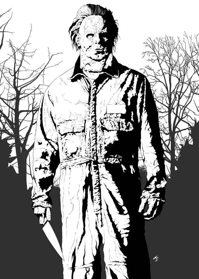 michael myers coloring pages michael myers by jayodjick on deviantart