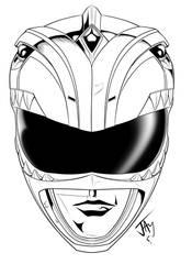 Green Ranger helmet by jayodjick