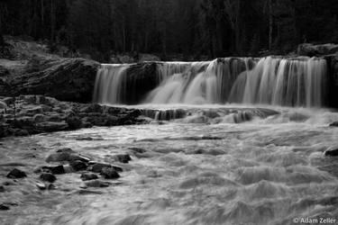 Provo River Falls - BW