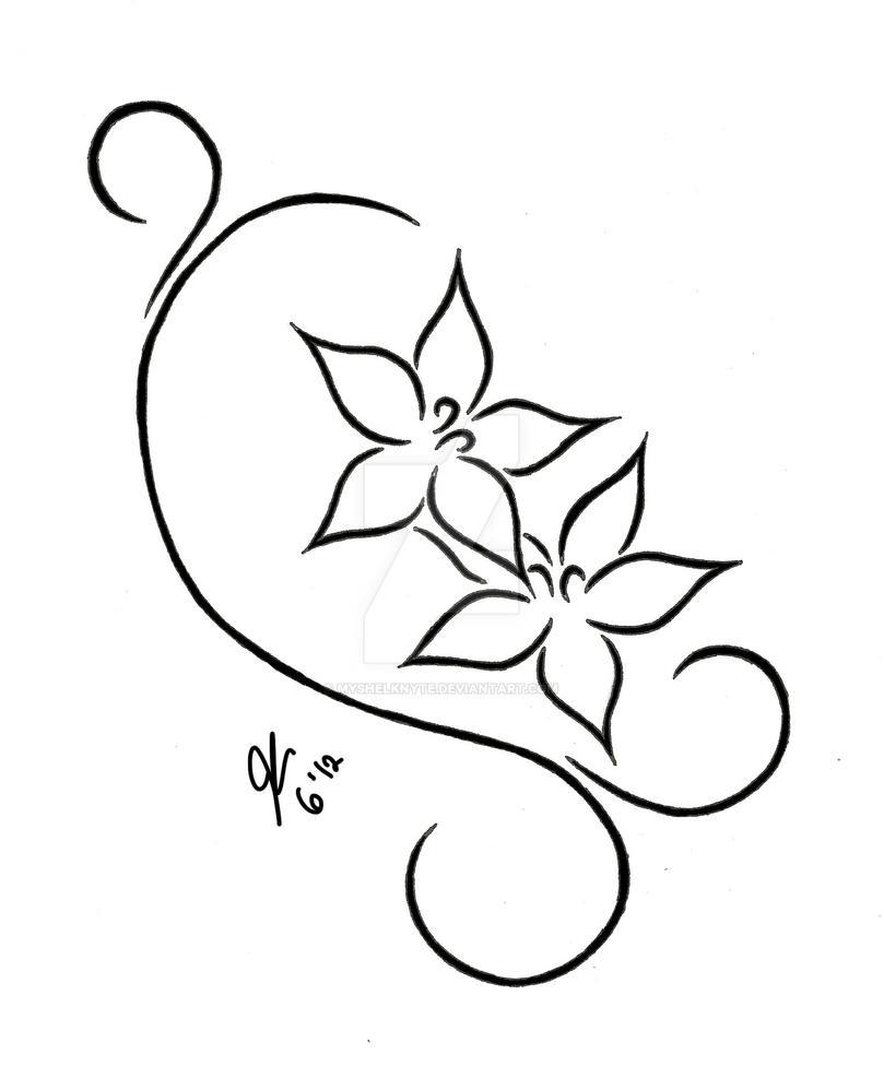 flowers and swirls designs - photo #22