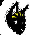 Lupus F Head Yellow Stripes by MyshelKnyte