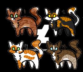 Cat adopts by VegasX77