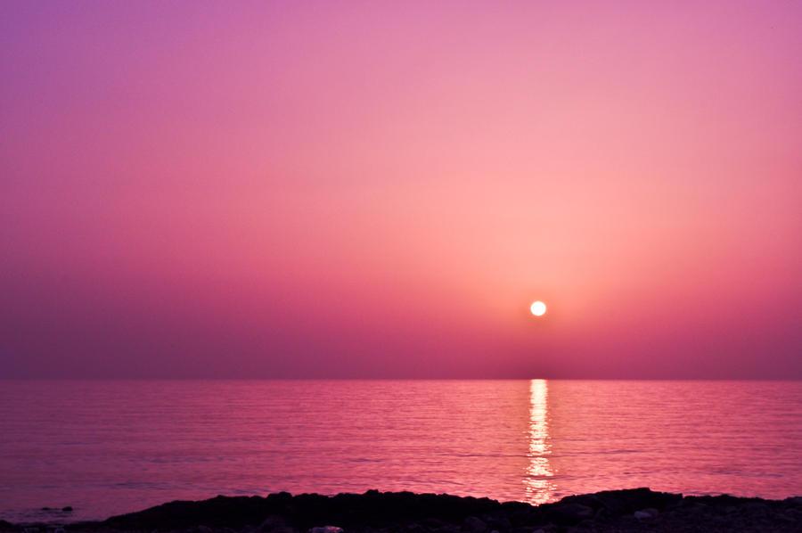 Pink Sunset By Pure Feelings On DeviantArt Light Wallpaper