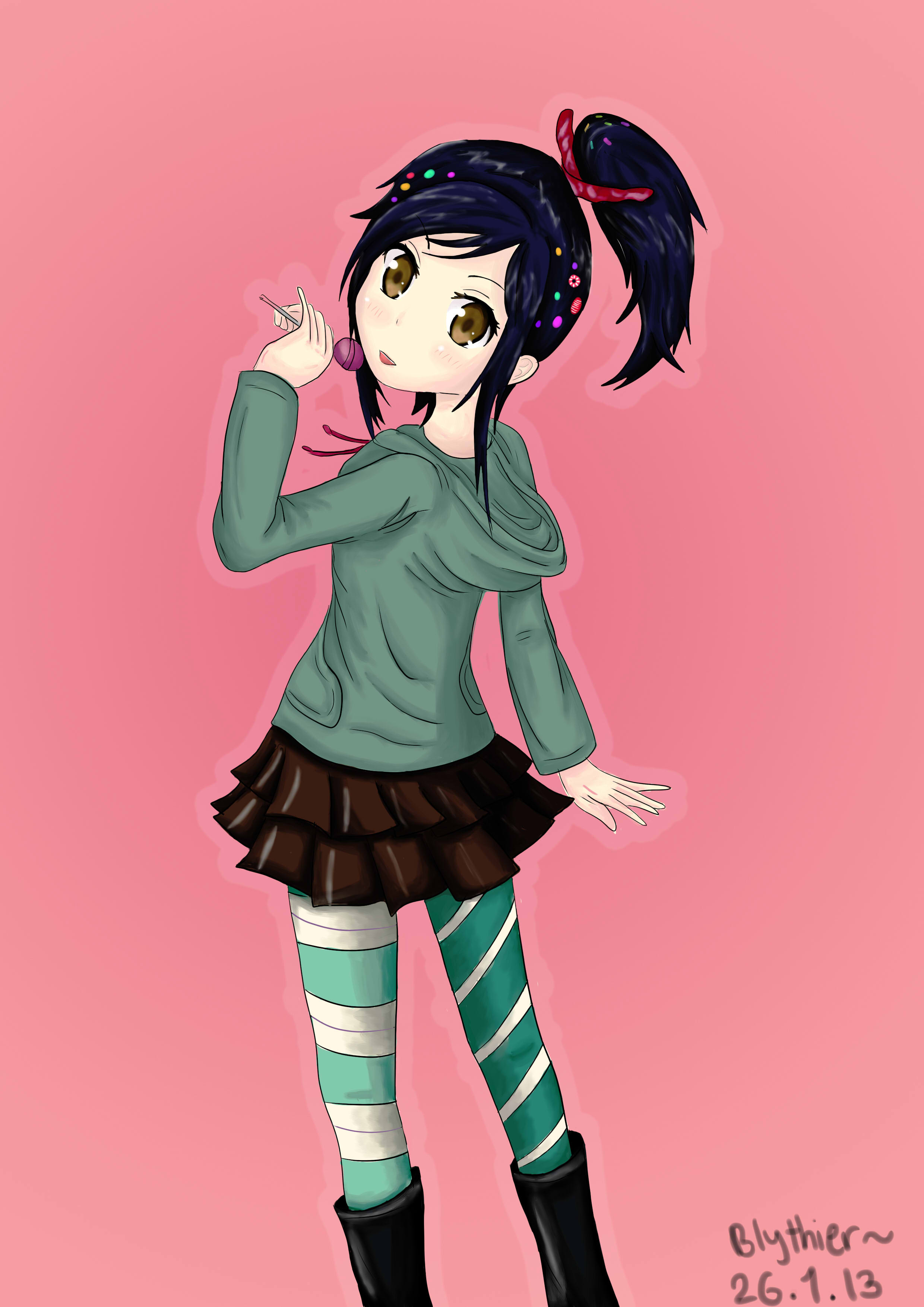 Vanellope von Schweetz~ Manga Version by blythier