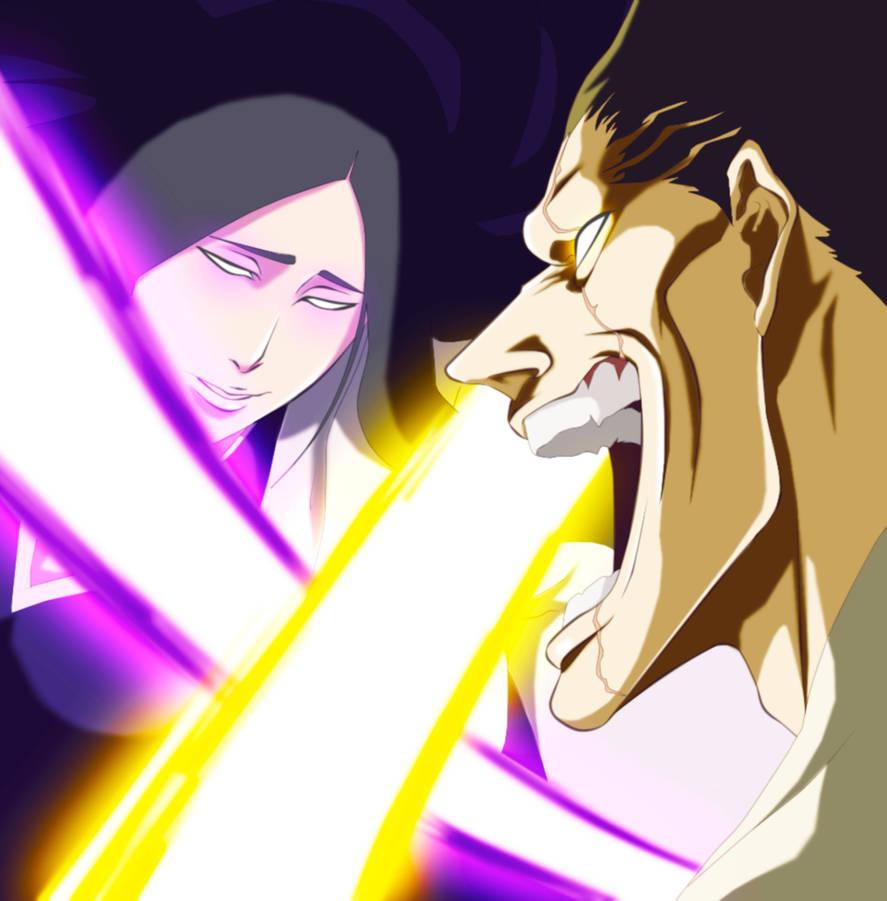 Zaraki-Kenpachi-vs-Unohana-Retsu by GEVDANO on DeviantArt