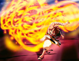 Fairy Tail 544 manga Natsu-vs-Acnologia part 1 by GEVDANO