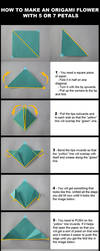 Origami Flower Tutorial by DarkUmah