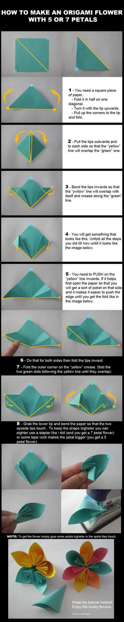 Origami Flower Tutorial By Darkumah On Deviantart